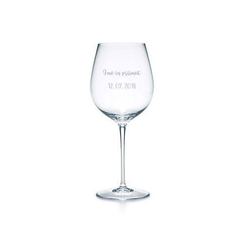 Gravirani kozarec - Poročno darilo